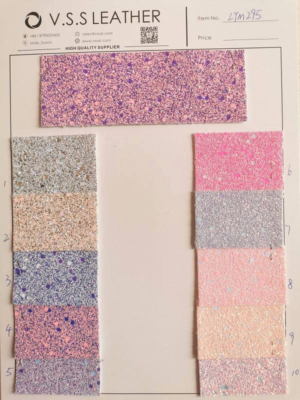 Chunky Glitter Synthetic Leather Fabric
