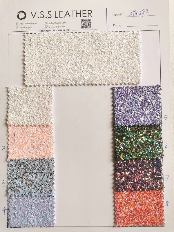 Premium Chunky Glitter Leather Fabric