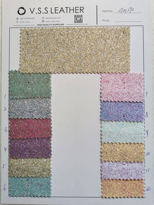 Glimmer Fine Glitter Leather Fabric