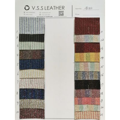 Small Stripes Mesh Glitter Leather