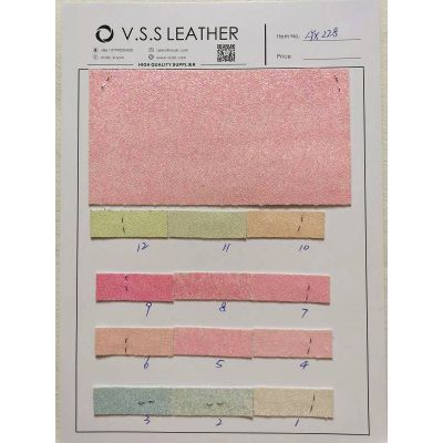 Small Beads Glitter Leather Fabric