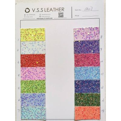 Stock Premium Chunky Glitter Leather